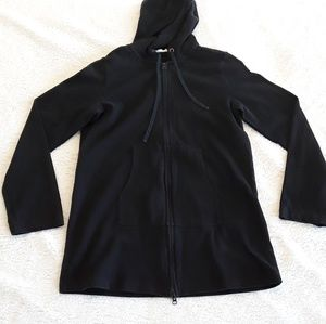 Eileen Fisher 100% organic cotton black Hoodie